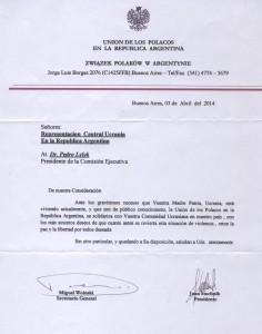 Carta Comunidad Polaca
