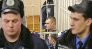 Trial of ex-Berkut servicemen P.Abroskіn and A.Zіnchenko on Feb.16 in Pechersky court in Kyiv on charges in the deaths of 39 activists of  Euromaidan on the  Iinstitutska street on February 20. (Volodymyr Petrov)